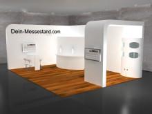 Messestand Design Rundwand