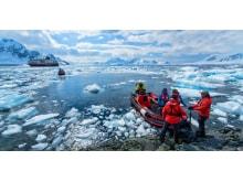 Landing with Hurtigrutens Polar Circle Boat in Antarctica