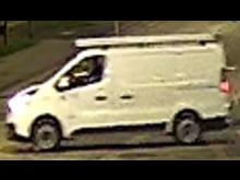 Image of van at scene