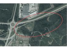 Preliminärt planområde för truckstop