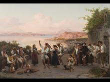 Wilhelm Marstrand, 'En dans i det frie på Ischia', 1847. Ribe Kunstmuseum. Foto Ribe Kunstmuseum