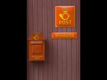 Postkasse på Norges Postmuseum