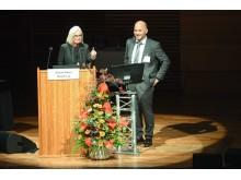 Monika Kaus und Emrah Düzel beim 10. Kongress der Deutschen Alzheimer Gesellschaft in Weimar