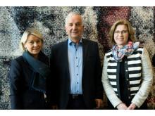 Fra venstre: Næringsminister Monica Mæland, Ola Tronrud, gründer og eier av Tronrud Engineering, Anne Marit Panengstuen  konsernsjef i Siemens AS