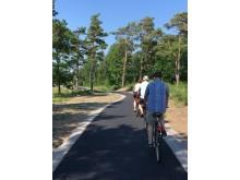 Kattegattleden - utbyggd cykelväg Steninge - Stensjö
