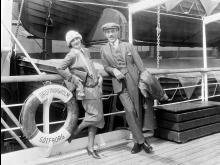 Greta Garbo travels on the America Line from Gothenburg to New York.