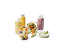 Läckra snacks och juicer