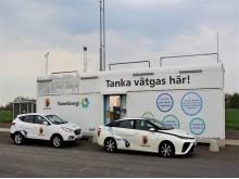 Mariestads vätgasstation för tankning av bränslecellsfordon.