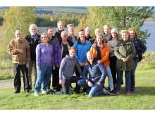 Startupprogrammets entreprenörer på inledande bootcamp i Tavelsjö.