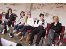 Workshop in der Fabrik23: In Kleingruppen nahmen die Teilnehmerinnen rotierend an vier interessanten Workshops teil