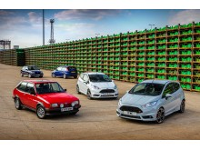 Flere generasjoner Ford Fiesta