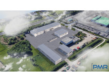Veolia Sortieranlage für Leichtverpackungen PMR_Vogelschau Betriebsgelände