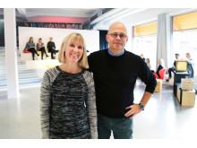 Hilda Esping Nordblom, vice VD och Per-henrik Johansson VD på Liljewall arkitekter