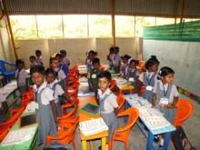 Klassenzimmer in Indien