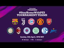 #StayHomeWithPES Teams BST