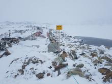 Skilting usikker is ved Sløddfjorden på Haugastøl