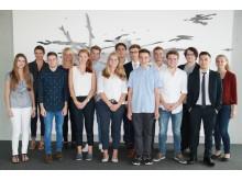 Gruppenfoto Ausbildungsstart 2016