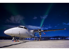 Bestens geeignet für Nordlichtflüge: Die DASH-Maschinen von Widerøe