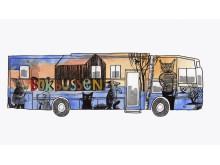 Skiss ny biblioteksbuss, långsidan