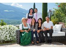 Die Gastgeber Familie Ladurner im DolceVita Hotel Preidlhof in Naturns