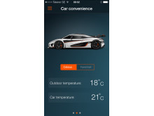 Koenigsegg One:1 app Car Convenience