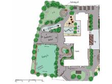Illustration nya skolgården