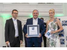"""•BPW gewinnt erneut den """"ETM Award"""" in der Kategorie Trailerachsen"""