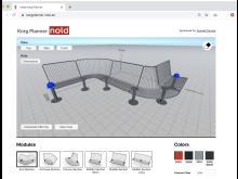 Korg planner tool for Korg furniture system. Design Thomas Bernstrand.