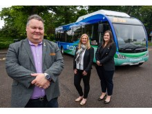 Cllr Graham Leadbitter; Julie Cromarty (HITRANS Public Transport Information OFficer); Jayne Golding (HITRANS Projects and Policy Officer)