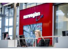 Norwegian's new service desk at Oslo airport