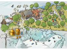 Illustration Vattenverket - Högberga Bakficka