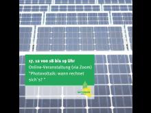 Veranstaltung Photovoltaik