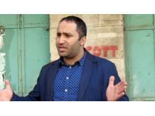 Människorättsförsvararen Issa Amro från Hebron på Västbanken