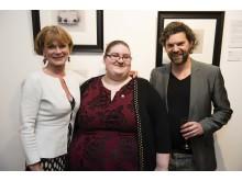 Actress And Prince's Trust Ambassador Samantha Bond, young Ambassador Natalie and Darren Baker.