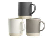 Mug VILBERT Ø9xH9cm stoneware assorted (25 DKK pr stk)