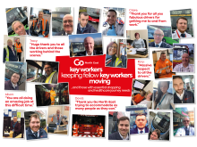 Key workers with quotes from customers