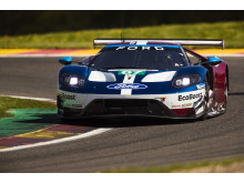 The 67 Ford GT on track
