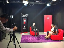 On-camera interview