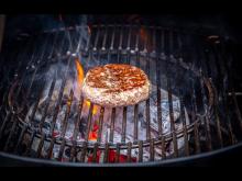 Høstburger på grillen