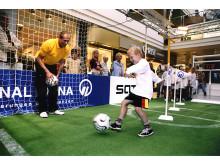 Jungs Fußballtraining