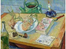 Van Gogh f 604 stillleben mit einem teller zwiebeln