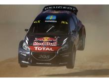 Team Peugeot Hansen utökade VM-ledningen i Barcelona