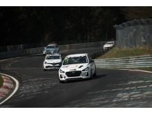 Hyundai i30 N på  Nürburgring