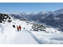 Winterwandern über Riederalp (Wallis)
