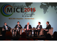 Mark Laudi moderating the panel discussion on digital strategy at SMF 2015