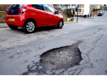 A 'classic' pothole in Bristol, 2018