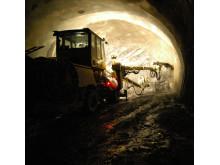 Fra arbeidet med Lørentunnelen i Oslo. (Foto NGI)
