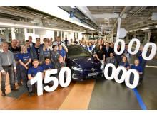 Volkswagen har tillverkat 150 miljoner bilar. Jubileumsbilen, en Golf GTE, rullade av monteringslinjen i Wolfsburg den 24 augusti.