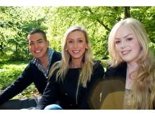 Carlos, Johanna och Bella har precis fått jobb från SEF Unga