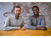 Die Fitfox-Gründer Dustin Selke und Edwin Hammond (v.l.n.r.)